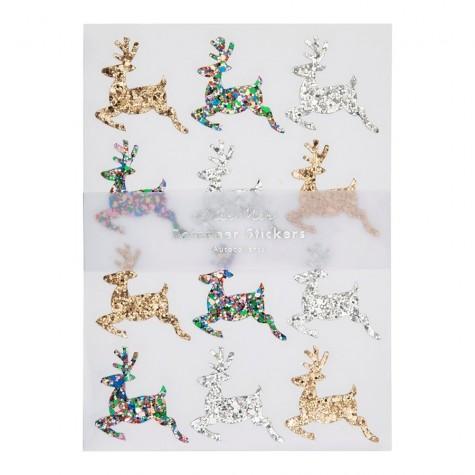 Stickers glitterati a forma di renna