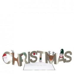 Biglietto di auguri Christmas a fisarmonica