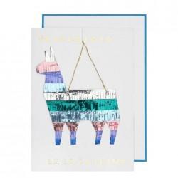 Biglietto di auguri con lama a frange colorate