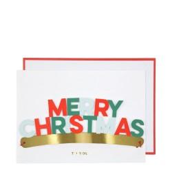 Biglietto di auguri Merry Christmas con mascherina