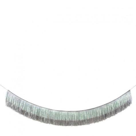 Ghirlanda a frange argento iridescenti