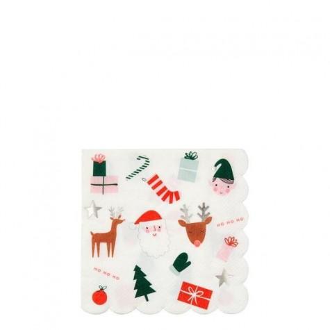 Tovagliolini di carta con icone natalizie