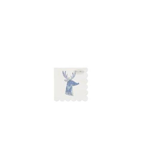 Tovagliolini di carta con renna scintillante