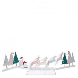 Biglietto di auguri con Babbo Natale e unicorni