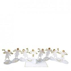 Biglietto di auguri con coro di angeli