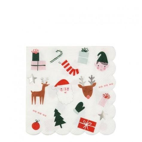 Tovaglioli di carta con icone natalizie