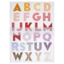 Stickers glitterati dell'alfabeto