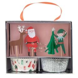 Pirottini e topper per dolcetti natalizi