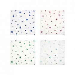 Tovagliolini di carta con stelline colorate