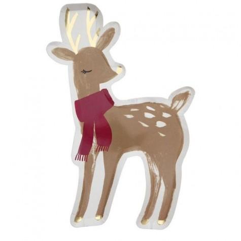 Piatti di carta fantasia cervo
