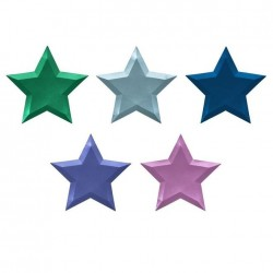 Piattini a forma di stella colorata