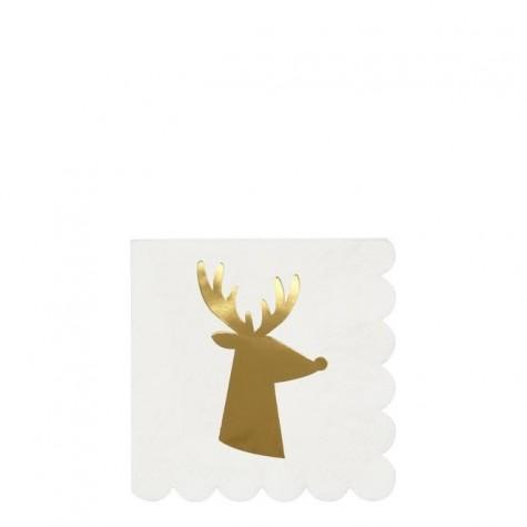 Tovagliolini di carta con renna dorata