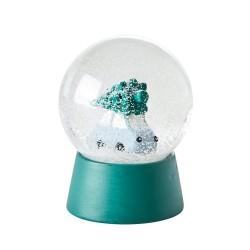Palla effetto neve con macchinina ed alberello di Natale
