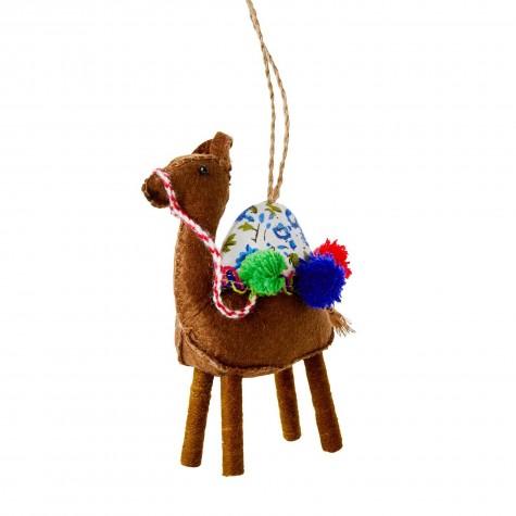Ornamento natalizio a forma di cammello marrone