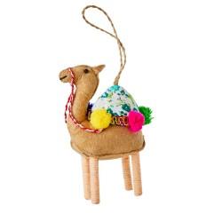 Ornamento natalizio a forma di cammello beige