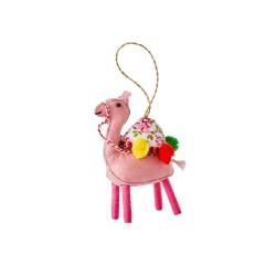 Ornamento natalizio a forma di cammello rosa
