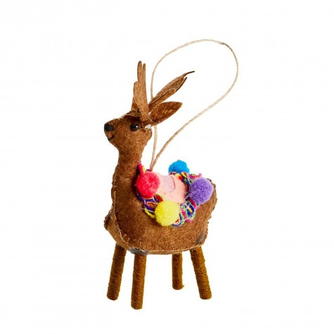Ornamento natalizio a forma di renna marrone