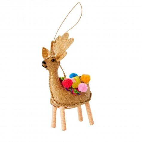 Ornamento natalizio a forma di renna beige