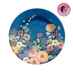 Piatto frutta fantasia composizione floreale