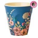 Bicchiere in melamina fantasia composizione floreale