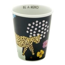 Bicchiere in porcellana fantasia leopardo