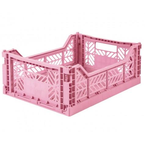 Cesta pieghevole media - baby pink