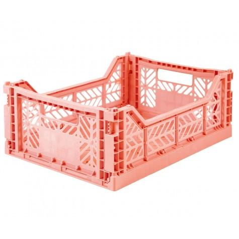 Cesta pieghevole media - salmon pink