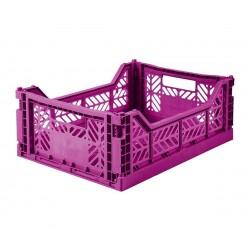 Cesta pieghevole media - purple