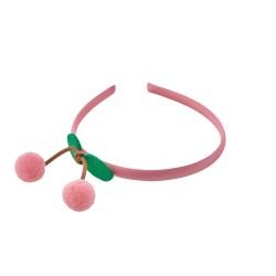 Cerchietto per capelli con ciliegie rosa