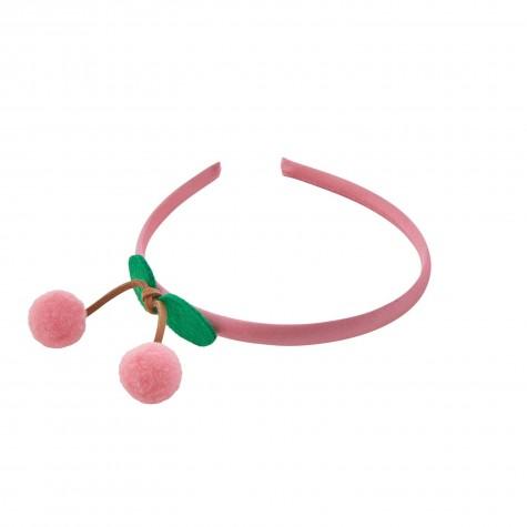 Cerchietto per capelli ciliegie rosa