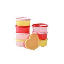 Set di contenitori per alimenti a forma di cuore