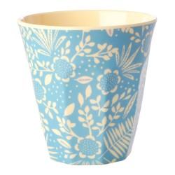 Bicchiere medio con stampa floreale
