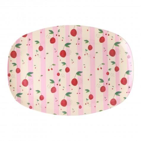Piatto ovale fantasia ciliegie