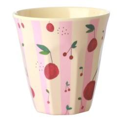Bicchiere in melamina fantasia ciliegie