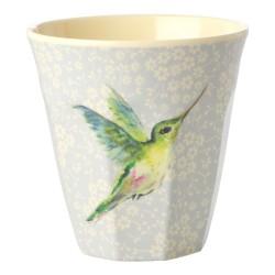 Bicchiere medio fantasia colibrì