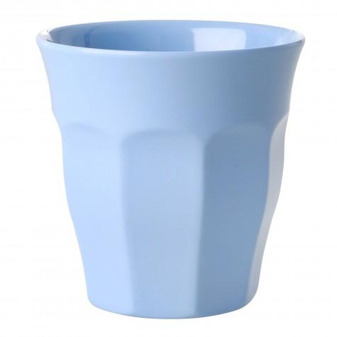 Bicchiere medio in melamina azzurro cenere