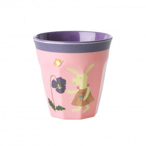 Bicchiere bimba in melamina fantasia coniglietto