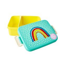 Lunchbox con divisore fantasia arcobaleno e stelline