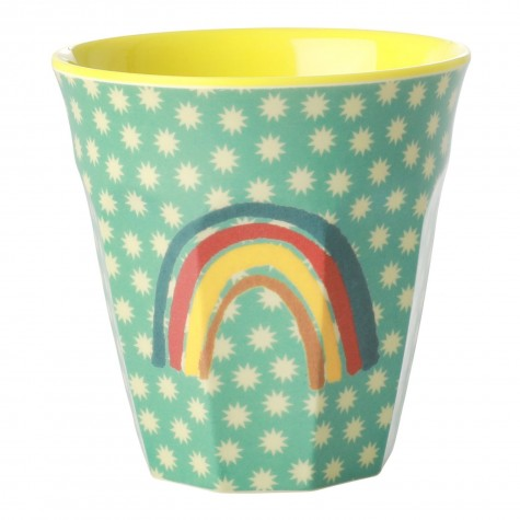 Bicchiere in melamina fantasia arcobaleno e stelline