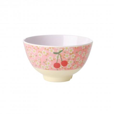 Tazza piccola da colazione fantasia ciliegie e fiorellini