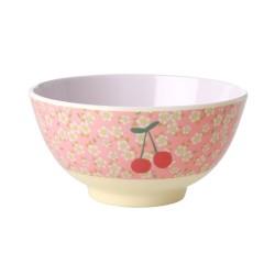 Tazza da colazione fantasia ciliegie e fiorellini