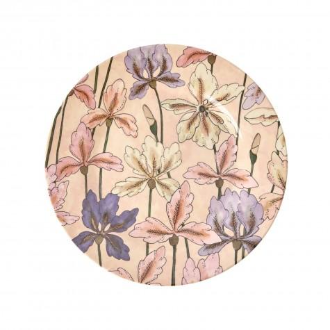 Piatto frutta in melamina fantasia iris