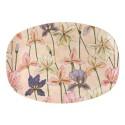 Piatto ovale in melamina fantasia iris
