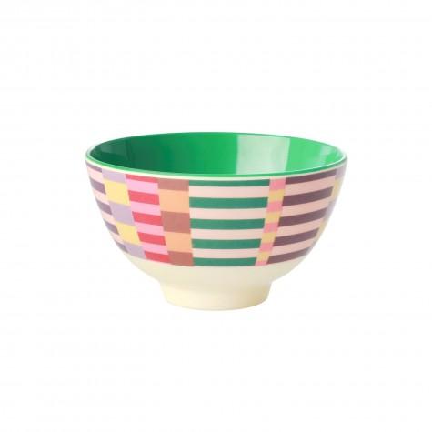 Tazza piccola da colazione in melamina fantasia strisce multicolor