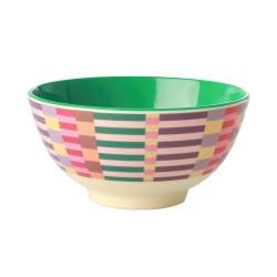 Tazza da colazione in melamina fantasia strisce multicolor