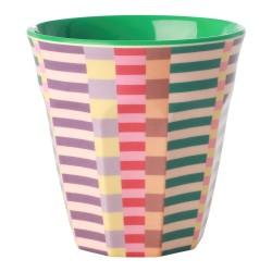 Bicchiere in melamina fantasia strisce multicolor