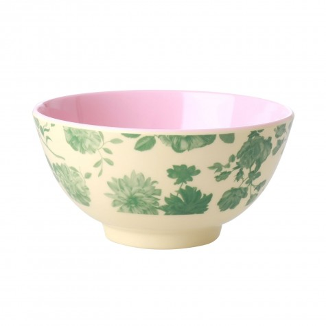Tazza da colazione in melamina fantasia rose verdi