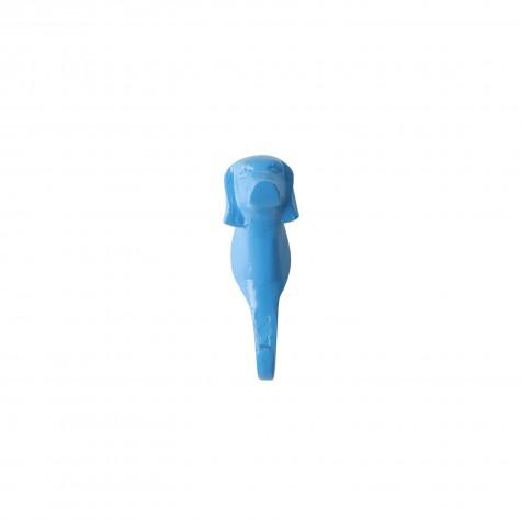 Appendiabiti da parete a forma di cane azzurro