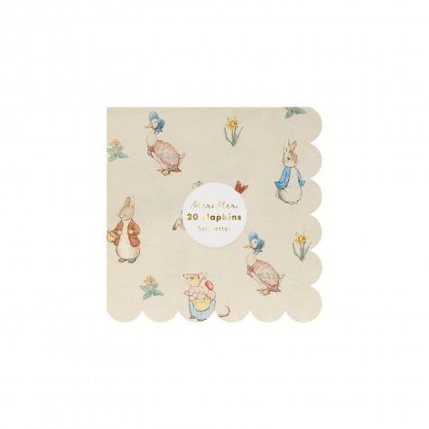 Tovagliolini di carta smerlati fantasia Peter Rabbit