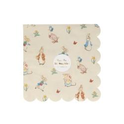 Tovaglioli di carta smerlati fantasia Peter Rabbit